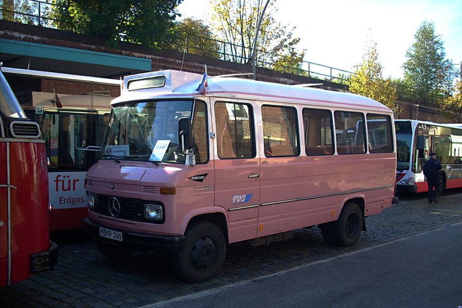 Die >>Bergziege<< (Wagen 249) der PVG beim 7. Verkehrshistorischen Tag 2007 auf der Omnibusanlage U/S Barmbek.