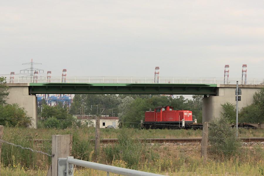 DB 291 038 beim Rangieren in Altenwerder.