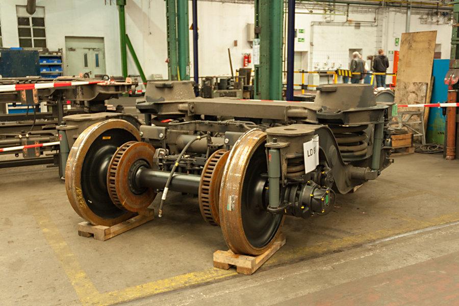 Drehgestell Typ LD 800 im Ausbesserungswerk Neumünster.