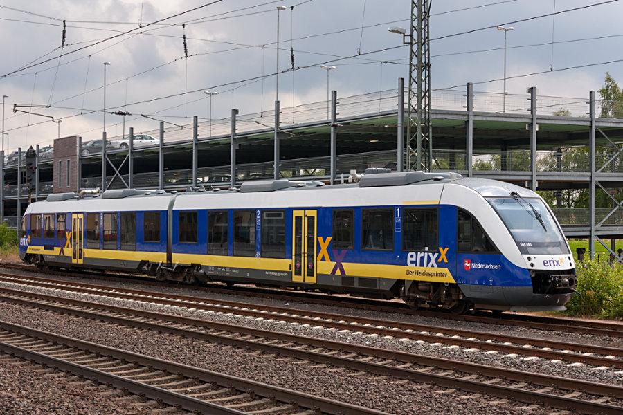 648 485 steht abgestellt im Bahnhof Buchholz (Nordheide)