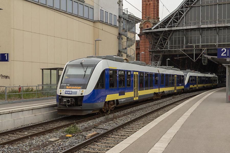 648 378 in Bremen Hauptbahnhof.