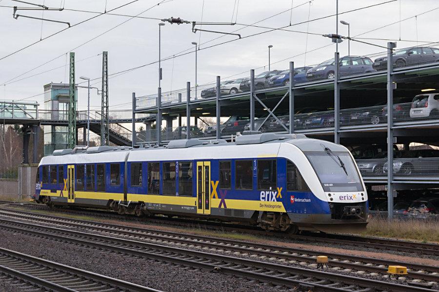 648 491 abgestellt im Bahnhof Buchholz (Nordheide).