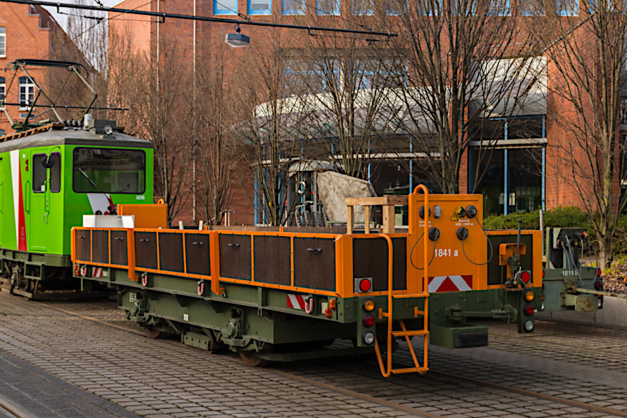 Arbeitswagen 1841 auf dem üstra-Betriebshof Glocksee.