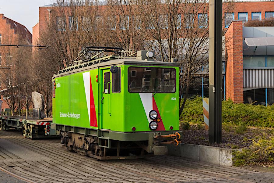 Arbeitswagen 808 auf dem üstra-Betriebshof Glocksee.