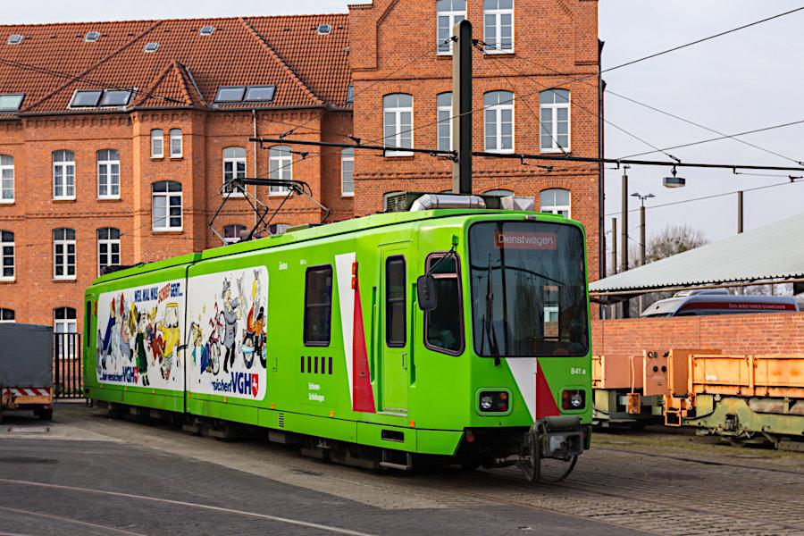 Arbeitswagen 841 auf dem üstra-Betriebshof Glocksee.