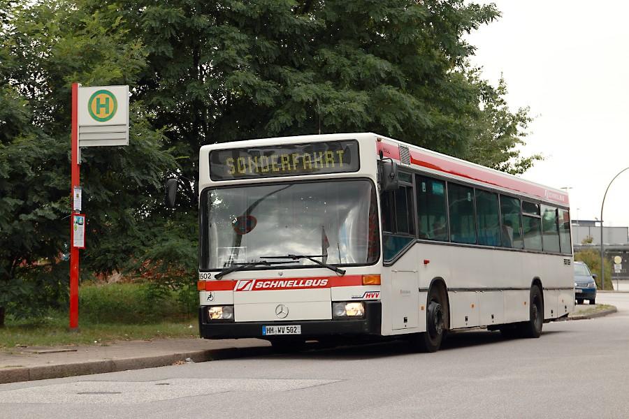 HOV 6502 an der ehemaligen Haltestelle Australiastraße (Museum am Hafen).