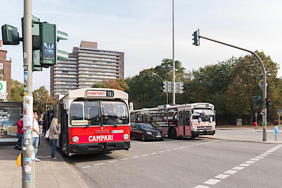 HOV 6416 und 7211 an der Haltestelle U Schlump.
