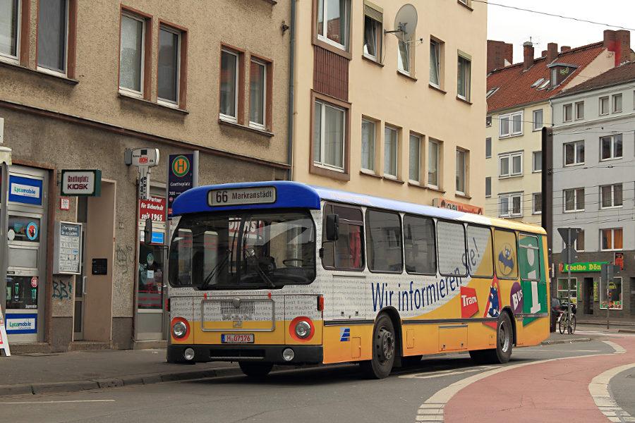 Ex Vestische 2114 am Goetheplatz.