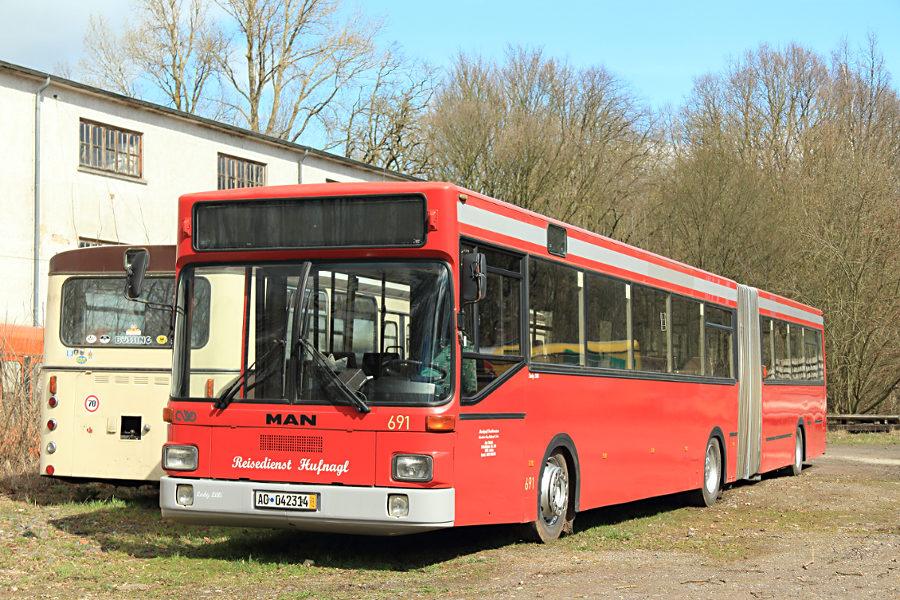 Ex ASEAG 691 im Hannoverschen Straßenbahn-Museum Wehmingen.