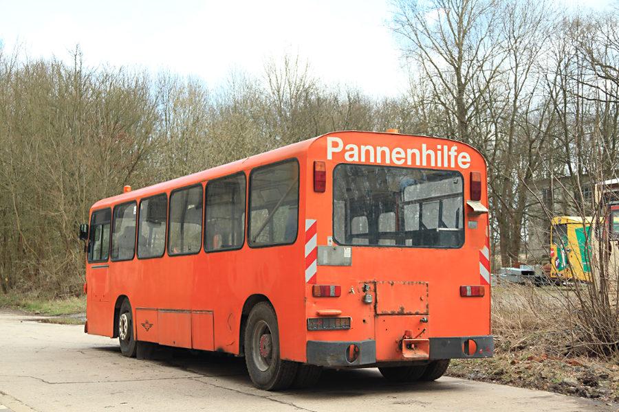 Ex Hartmann Pannenhilfe/Schleppfahrzeug im Hannoverschen Straßenbahn-Museum Wehmingen.