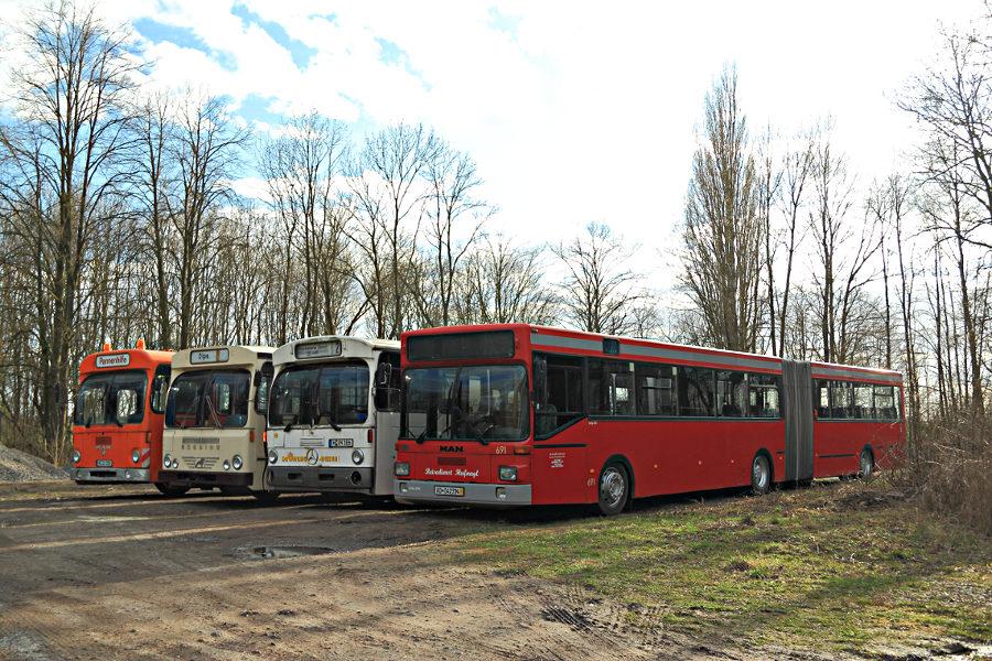 Ex Hartmann Pannenhilfe, Büssing, ex Vestische 2114 und ex ASEAG 691 im Hannoverschen Straßenbahn-Museum Wehmingen..