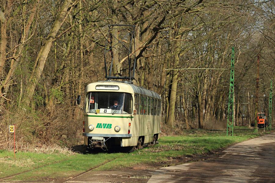 Tw 1008 (ex Magdeburg) im Hannoverschen Straßenbahn-Museum Wehmingen.