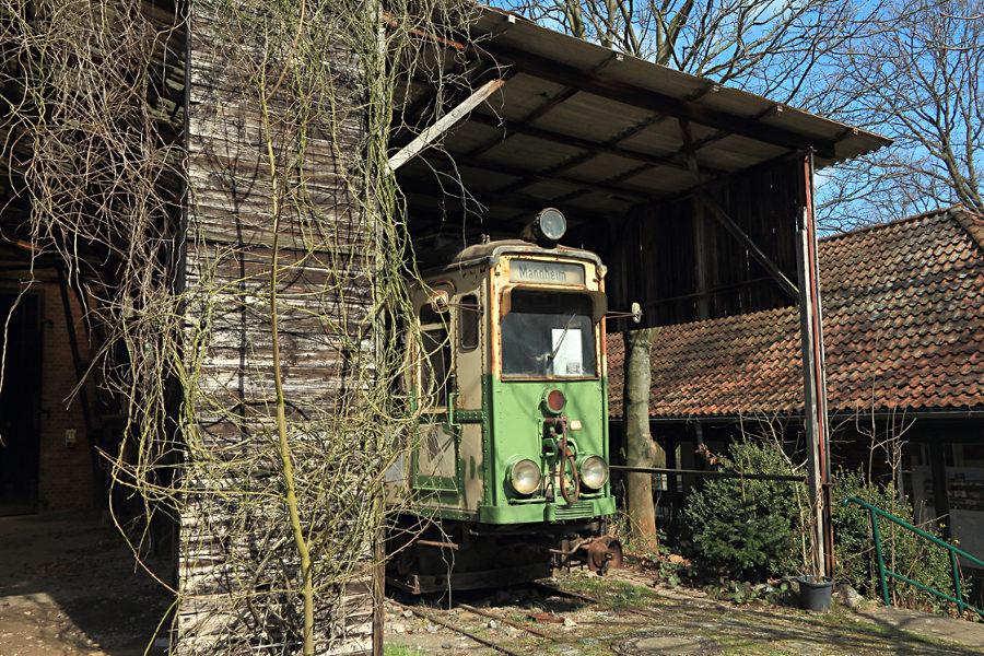 Tw 28 (ex Oberrheinische Eisenbahn (OEG)) im Hannoverschen Straßenbahn-Museum Wehmingen.