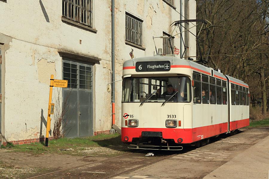 Tw 3533 (ex Bremen) im Hannoverschen Straßenbahn-Museum Wehmingen.