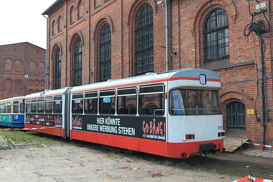 Tw 3733 (ex Bremen) im Hannoverschen Straßenbahn-Museum Wehmingen.