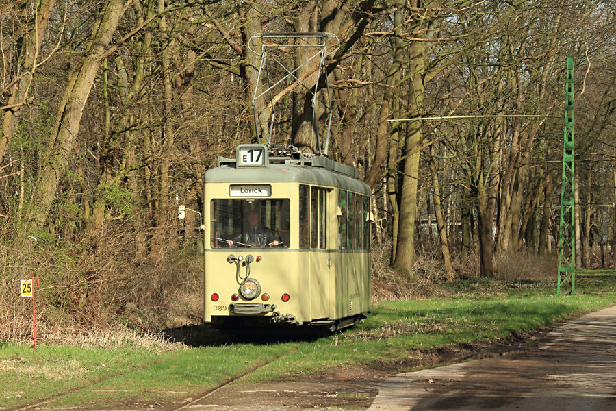 Tw 389 (ex Düsseldorf) im Hannoverschen Straßenbahn-Museum Wehmingen.