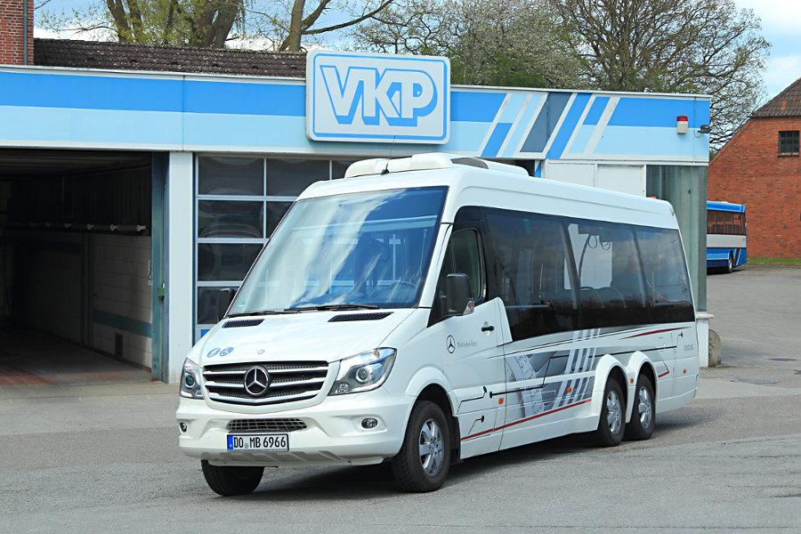 Testwagen DO-MB 6966 auf dem VKP-Betriebshof Plön.