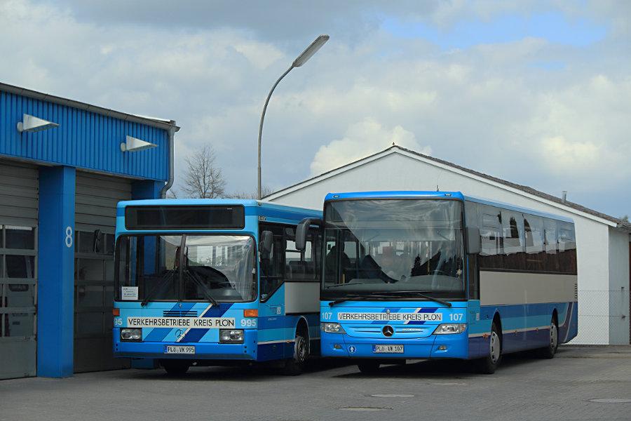 VKP 995 und 107 auf dem Betriebshof Bornhöved.