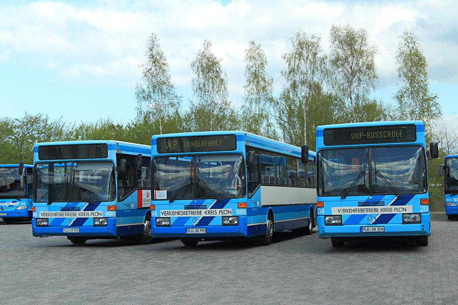 VKP 996, 995 und 204 auf dem Betriebshof Lütjenburg.