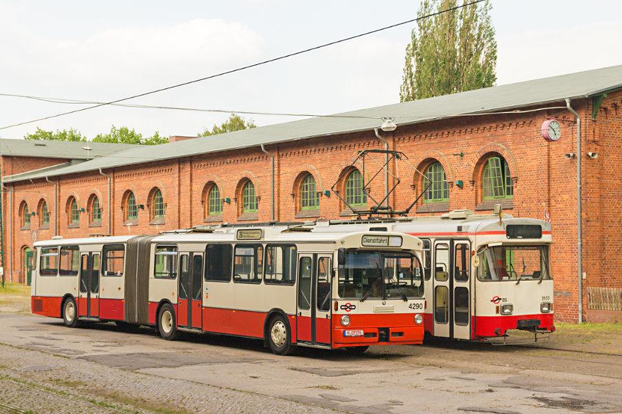 Ex BSAG Tw 3533 und 4290 im Hannoverschen Straßenbahn-Museum Wehmingen.