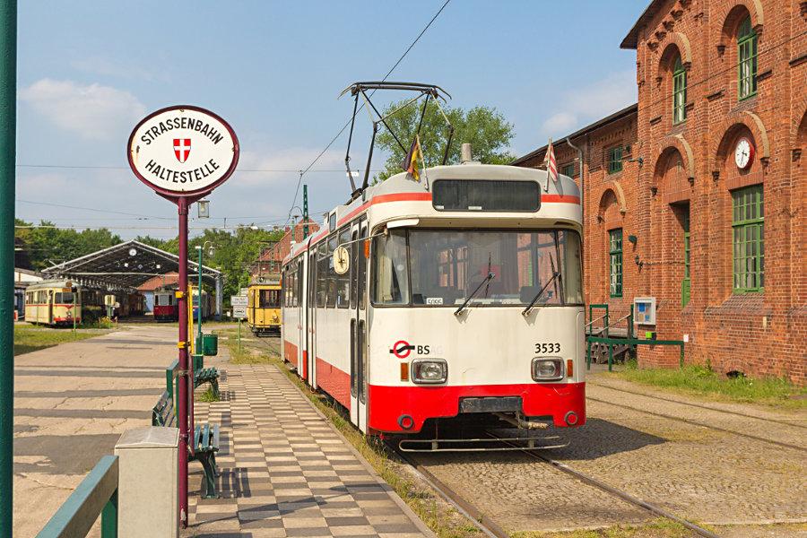 Ex BSAG Tw 3533 im Hannoverschen Straßenbahn-Museum Wehmingen.