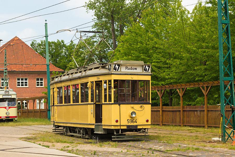 Ex BVG Tw 5964 im Hannoverschen Straßenbahn-Museum Wehmingen.