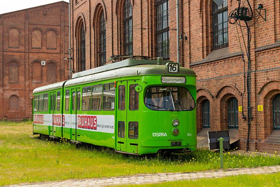Ex üstra Tw 503 im Hannoverschen Straßenbahn-Museum Wehmingen.