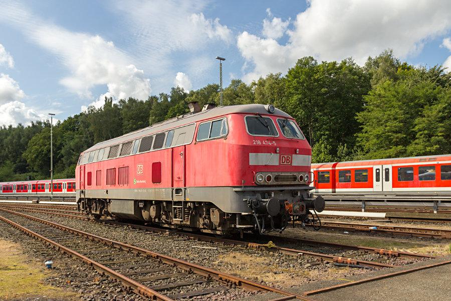 218 474 während des Tags der offenen Tür 2017 im Instandhaltungswerk S-Bahn Hamburg.