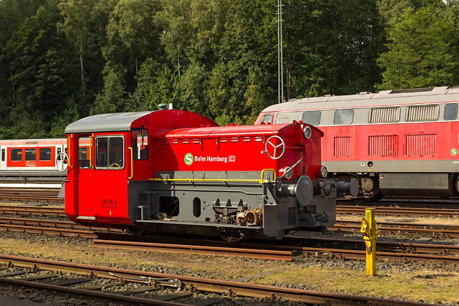 Werklok 382 001 während des Tags der offenen Tür 2017 im Instandhaltungswerk S-Bahn Hamburg.