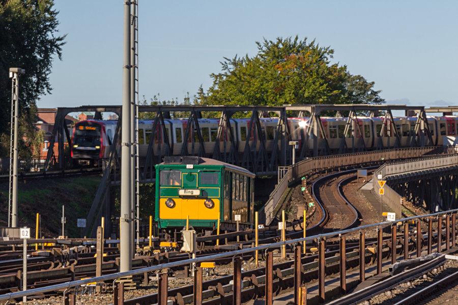 T 220 beim 17. Verkehrshistorischen Tag 2017 im Bahnhof Barmbek.
