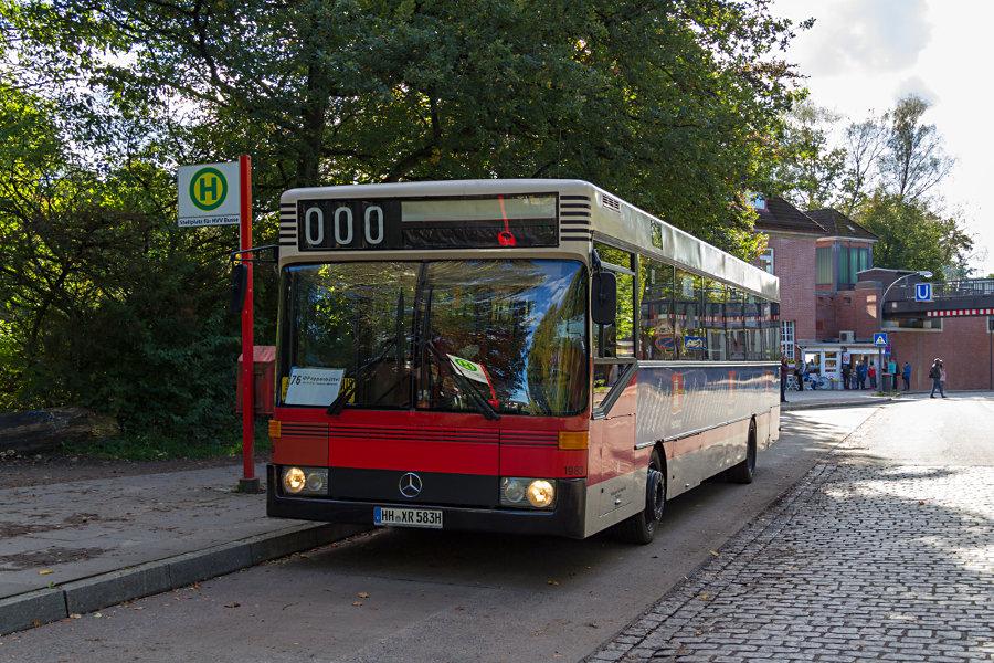 Wagen 1983 des HOVs beim 17. Verkehrshistorischen Tag 2017 an der Haltestelle U Ohlstedt.